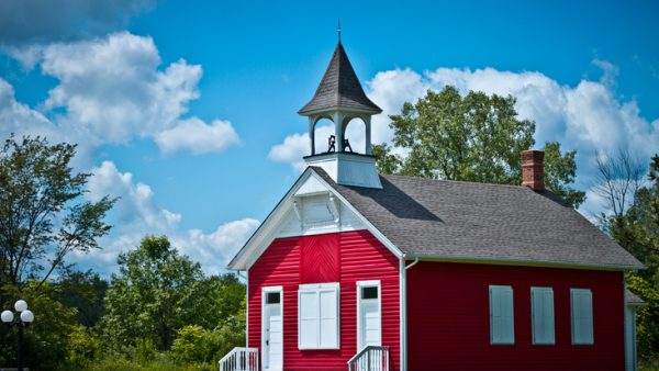 Restored vintage school house